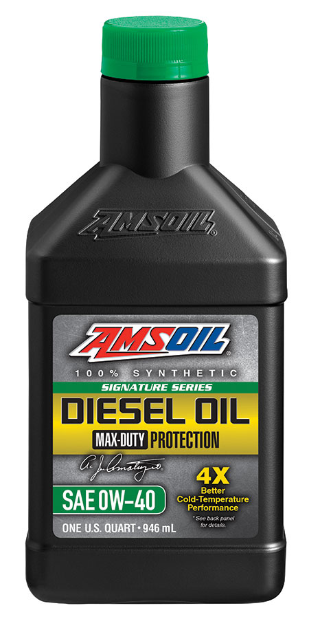 AMSOIL Signature Series Max-Duty Synthetic 0w-40 Diesel Oil